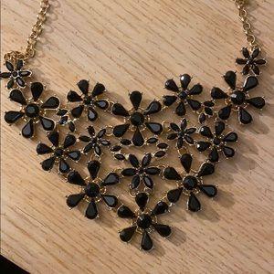 Black lays flat necklace